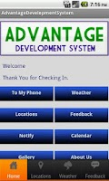 Screenshot of Advantage Development System