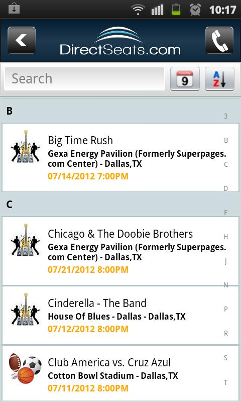 DirectSeats- screenshot