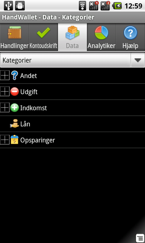 Udgiftsmanager Expense Manager - screenshot
