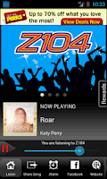 Screenshot of Z104 The 757 Hit Music Station