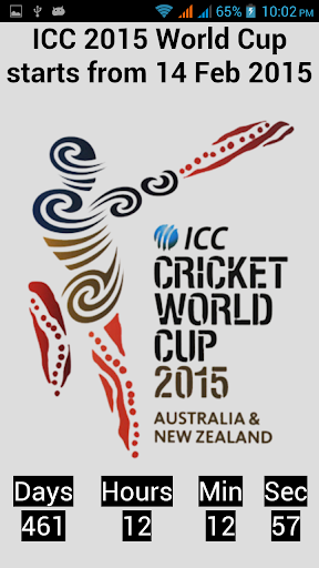 ICC World Cup 2015 CountDown
