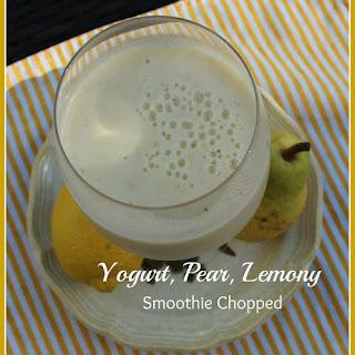 Yogurt, Pear, Lemony Smoothie Chopped