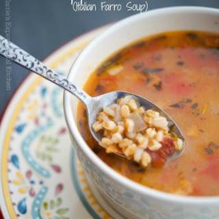 Zuppa di Farro (Italian Farro Soup)