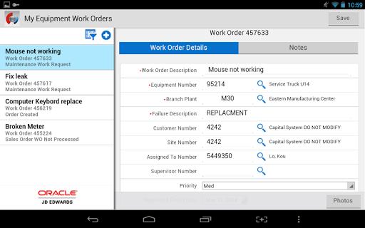 Create Work Order - JDE E1
