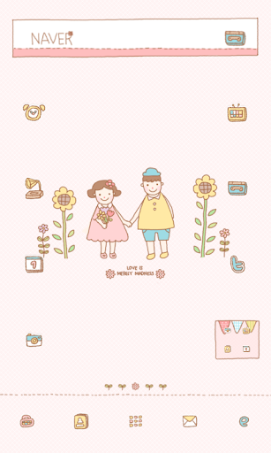 Flower dodol launcher theme