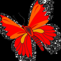 Butterfly Red Glitter Live Wal logo