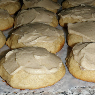 Applesauce Cookies with Carmel Frosting.