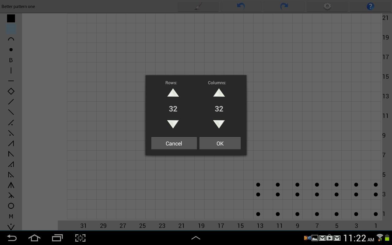 Knitting Chart Maker - screenshot