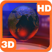 Virtual News Studio Globe 3D
