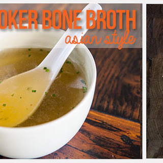 Slow Cooker Bone Broth Recipe - Asian Style.