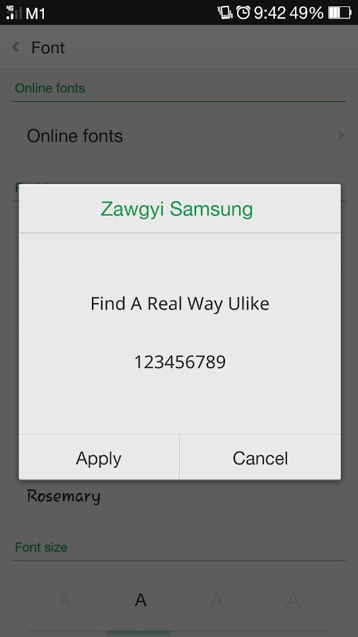 Zawgyi One Ttf Download For Android