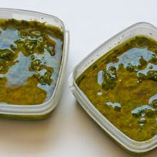 French Pistou Sauce (Fresh Basil, Garlic, and Olive Oil Sauce)