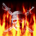 Flaming Pirate Skull LWP logo