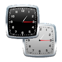 uccw black&white analog clock icon