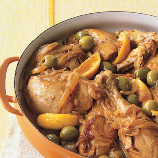 Moroccan Chicken with Green Olives and Lemon.