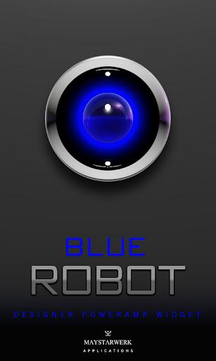 Poweramp Widget Blue Robot