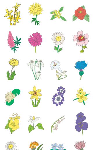 ぬりえ(花)|玩教育App免費|玩APPs