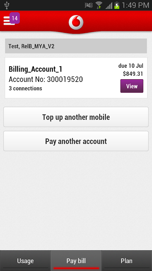 My Vodafone (NZ) - screenshot