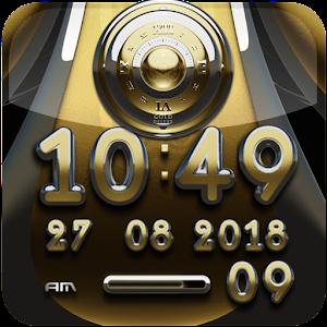 digital clock Gold Deluxe 生活 App LOGO-硬是要APP