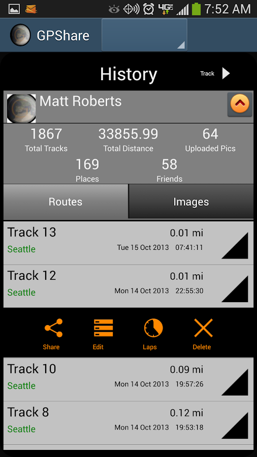 GPShare - GPS Tracking- screenshot