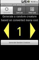 Screenshot of MTG Creature Generator
