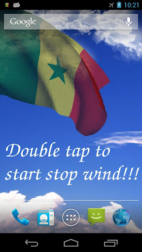 3D Senegal Flag LWP