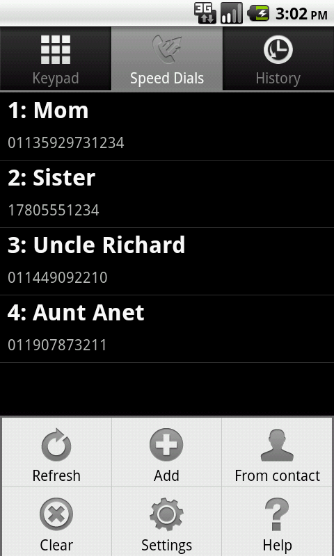 TEL3Dialer - screenshot