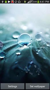 G3 Raindrops Live HD Wallpaper screenshot