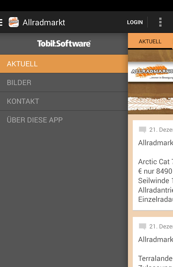 Allradmarkt - screenshot