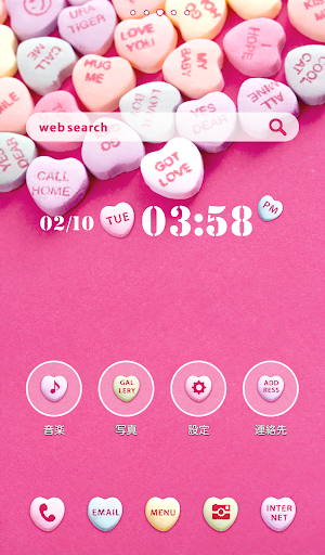 Cute wallpaper★Candy Hearts