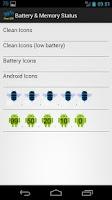 Screenshot of Battery & Memory Status free