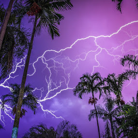 Lighting by Charlotte Hellings - Landscapes Weather ( lightning, nature, night, storm, mother nature,  )