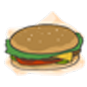 Hamburgers - Battery Widget