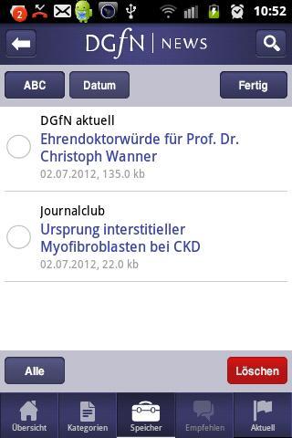 DGfN | News- screenshot