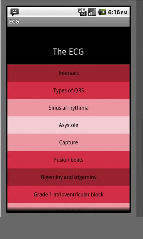Electrocardiogram ECG Types - screenshot