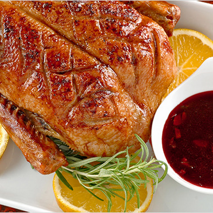 Roast Duck with Spiced Pomegranate Sauce