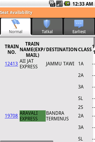 Indian Rail Info App- screenshot