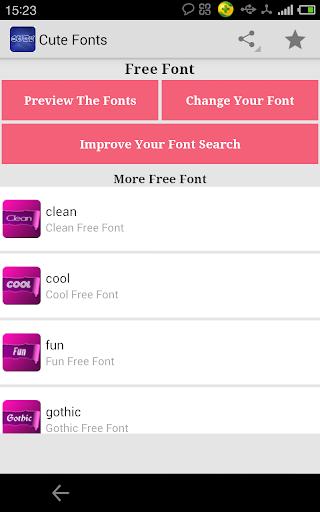 Fonts for FlipFont Cute