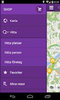 Screenshot of Telia Navigator