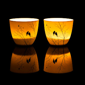 Candle by Sondre Gunleiksrud - Artistic Objects Still Life ( canon, mirror, black background, candle, reflection, candles, candle light, reflections,  )