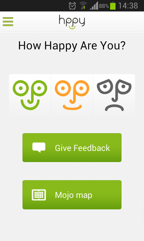 Hppy - team happiness tracker - screenshot