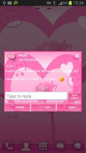 GO SMS Pro Theme Valentine - screenshot thumbnail