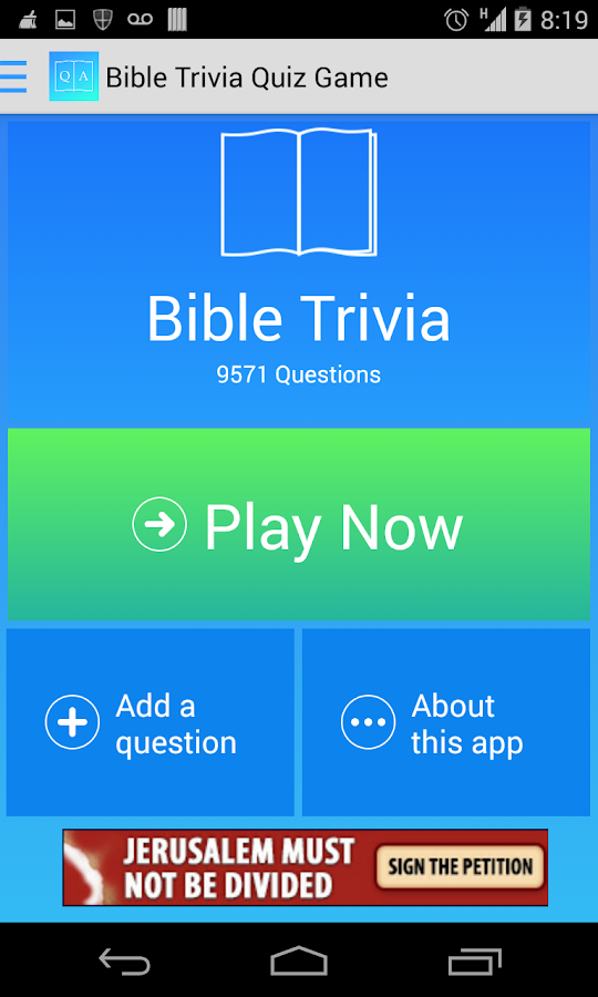 Free Bible Trivia Quiz Game - screenshot