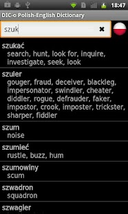 Polish - English offline dict.- screenshot thumbnail