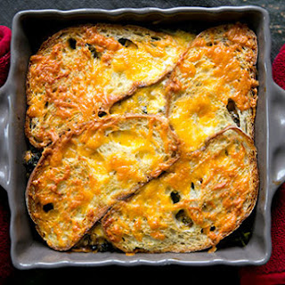 Kale, Mushroom, and Cheddar Bake