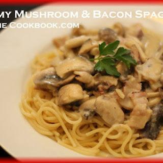 Creamy Mushroom & Bacon Spaghetti