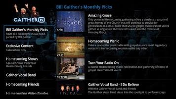 Screenshot of Gaither TV