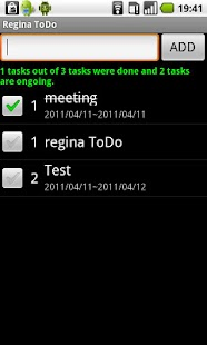 Regina to-do list - screenshot thumbnail