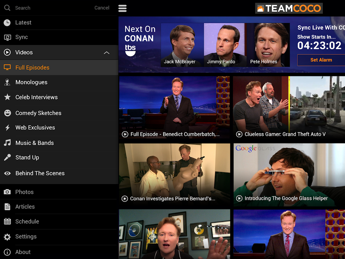 Conan O'Brien's Team Coco - screenshot