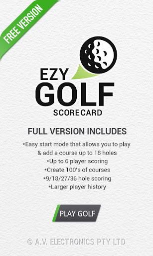 Ezy Golf Scorecard FREE